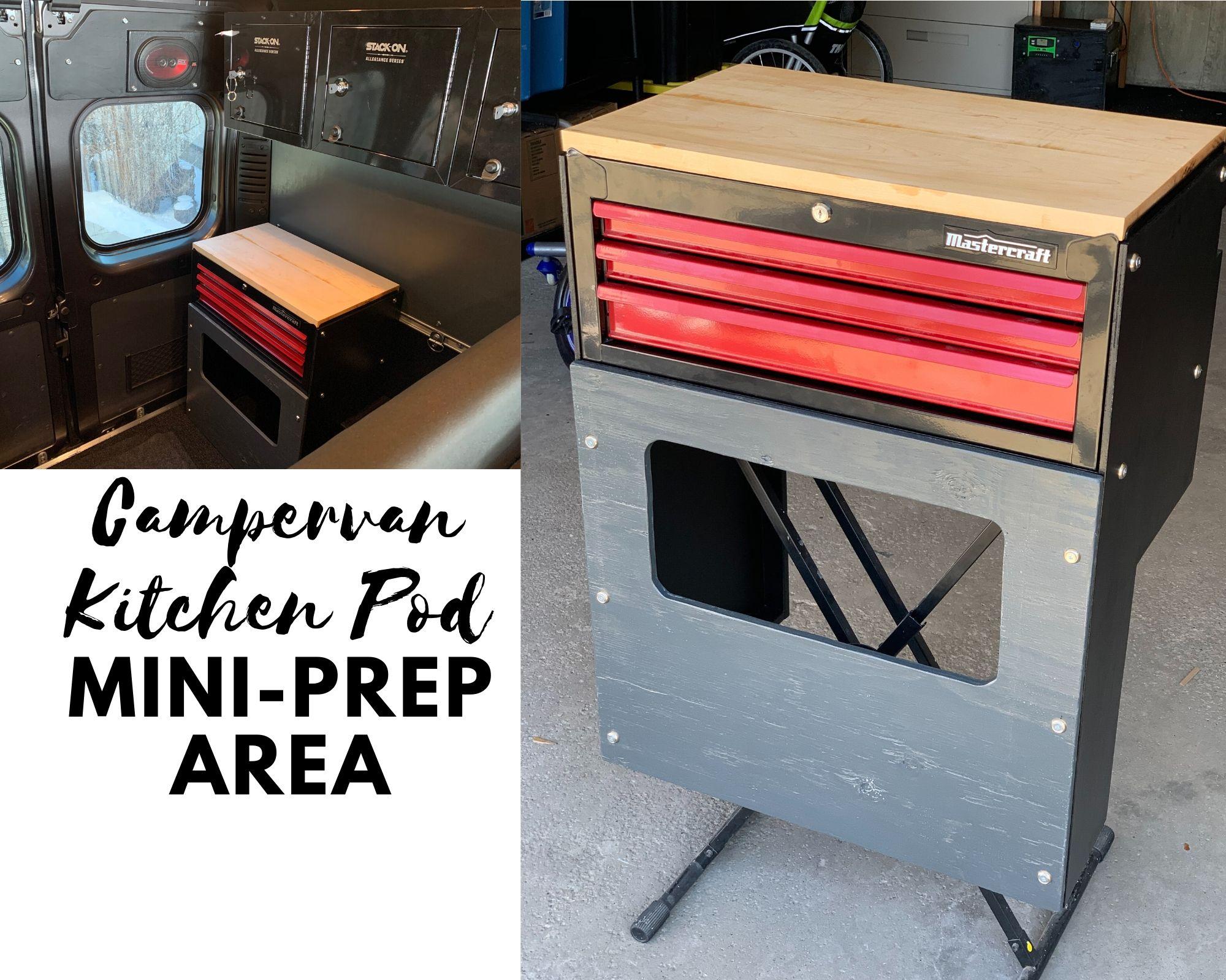 Campervan Kitchen Pod Mini Prep Area Weekender Van Life